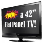 "WIN 42 "" FLAT SCREEN 3D TV ($1900 Value )"