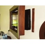 SOLID WOOD FLATSCREEN TV STAND EASEL WALL MOUNT